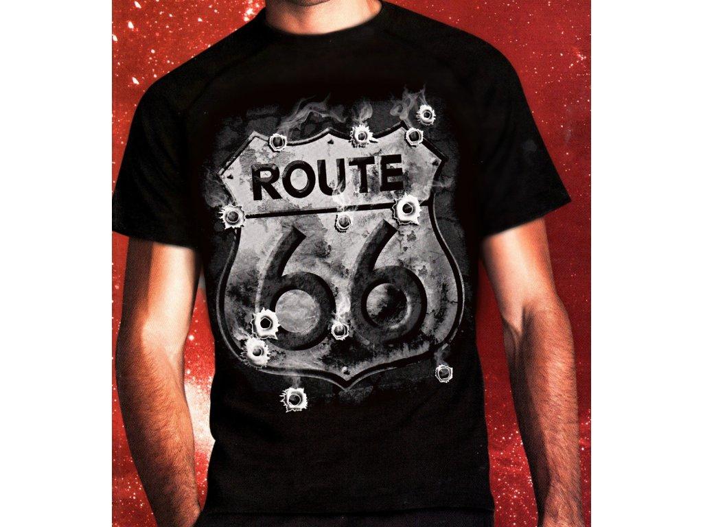 4aaff36a4b9 Chopper tričko s potiskem Route 66