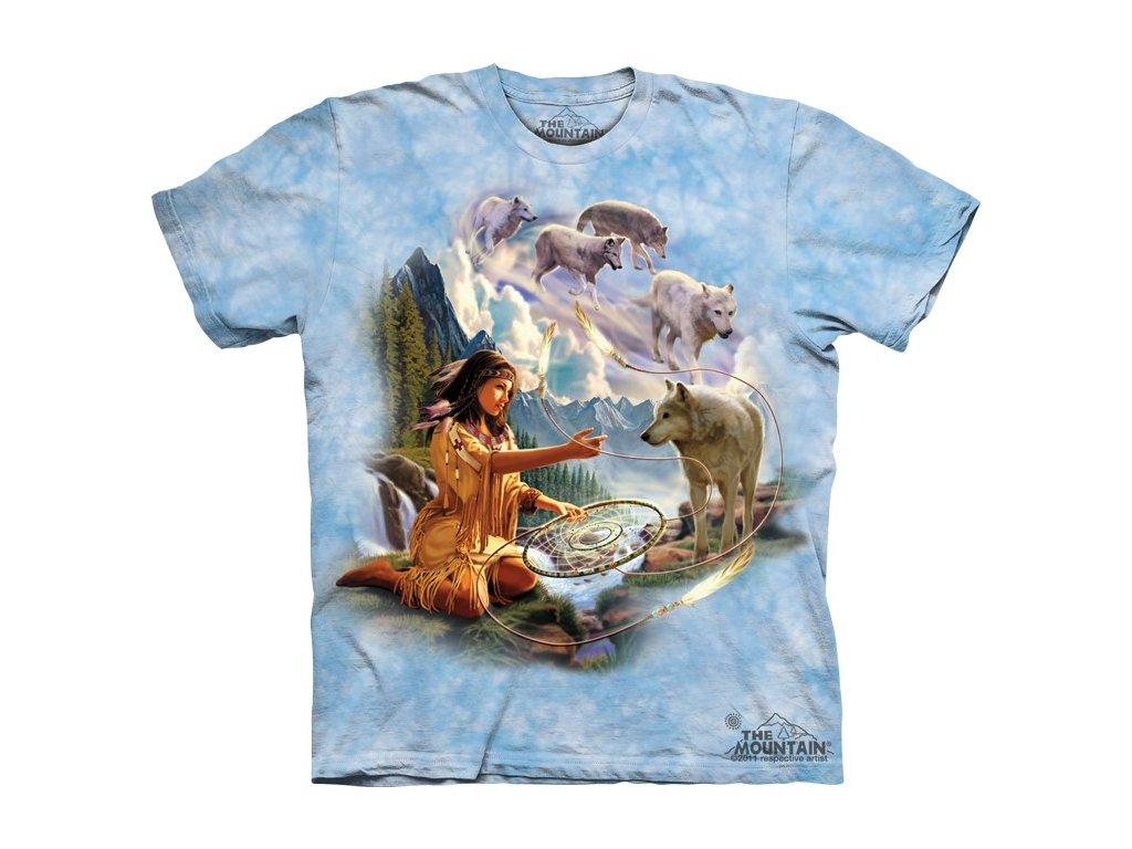 4c608effd4d Tričko indiánské s batikovaným potiskem the Mountain squaw a vlků ...
