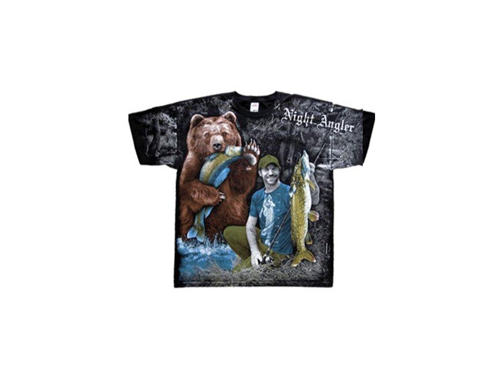 a105b0de2dc Tričko s celoplošným potiskem rybáře