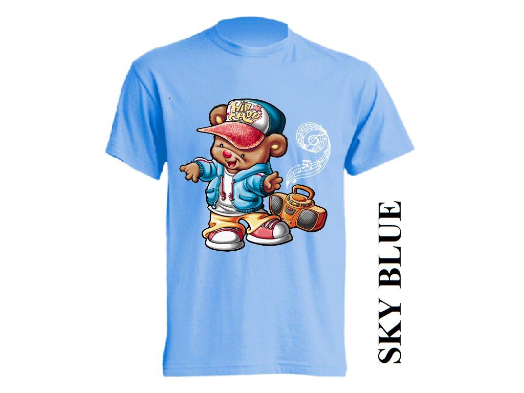 827ac2a323ba Levné bavlněné dětské tričko světle modré s vtipným potiskem street ...