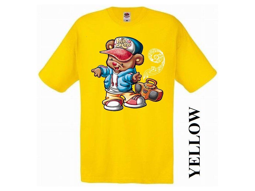 0c9ead60eefe Levné bavlněné dětské tričko žluté s vtipným potiskem street ...