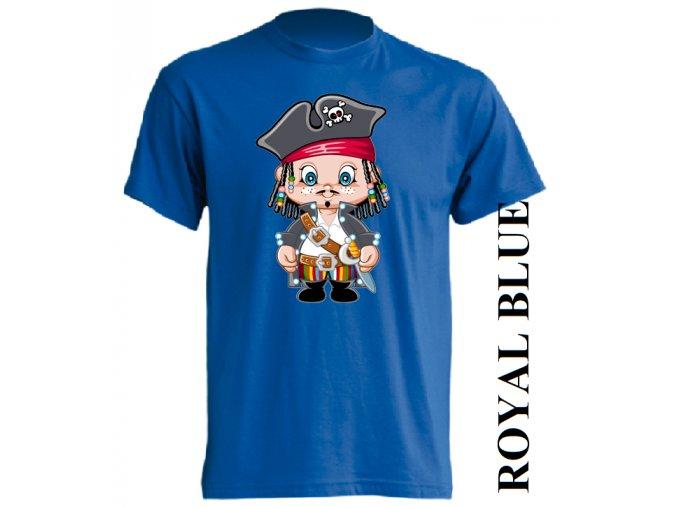 dětské_tričko-modré-potisk-korzár