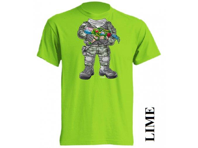 3D-tricko-vojak-limetkove-zelene