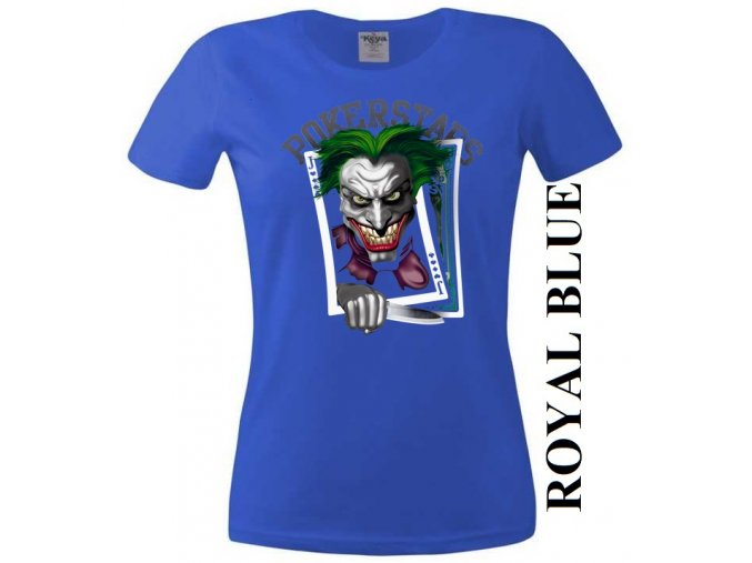 damske-levne-tricko-poker-joker-modre