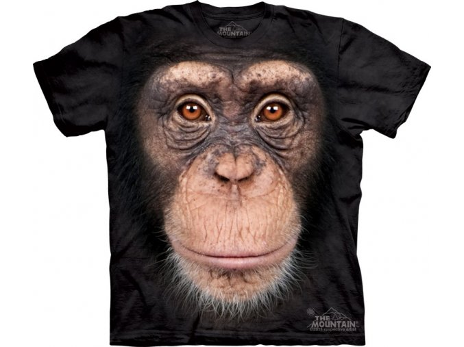 dětské tričko-opice-šimpanz-3d-potisk-mountain