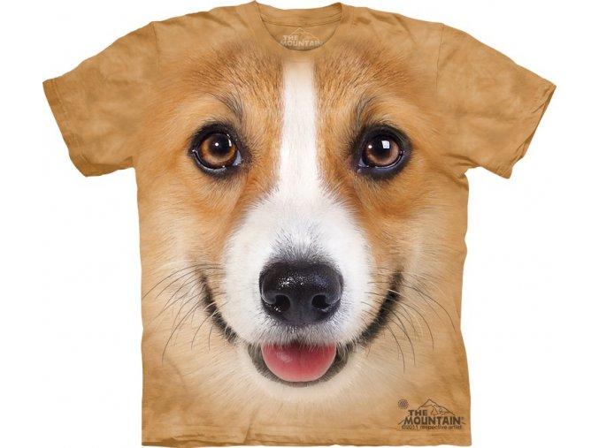 tričko, pejsek welsh corgi, 3d, potisk, dětské, mountain