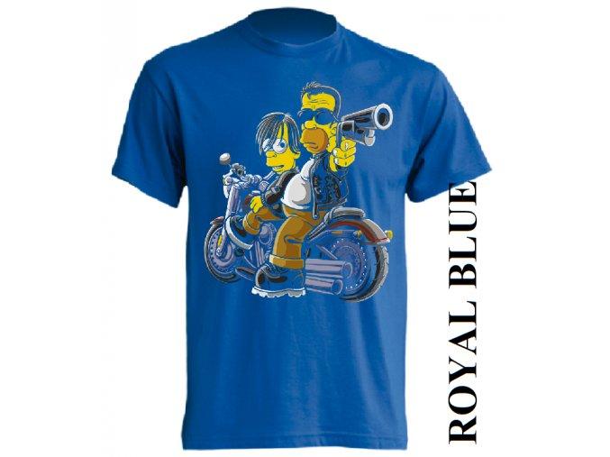 levné-tričko-modré-potisk-simpson-terminátor