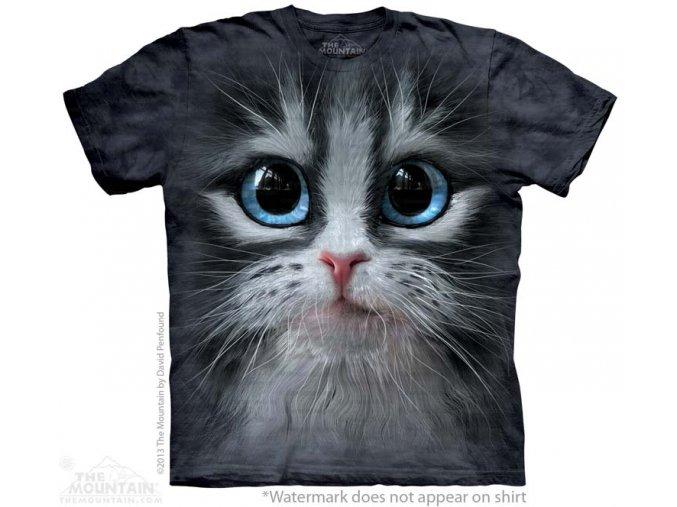 tričko, kočka, kotě, 3d,  potisk, dětské