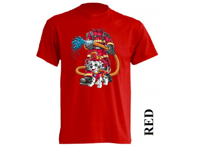 detske-tricko-pozarnik-cervene