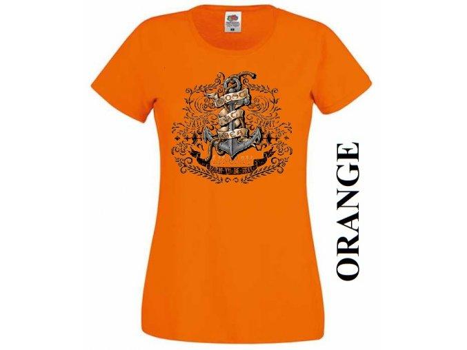 levne-damske-tricko-kotva-oranzove