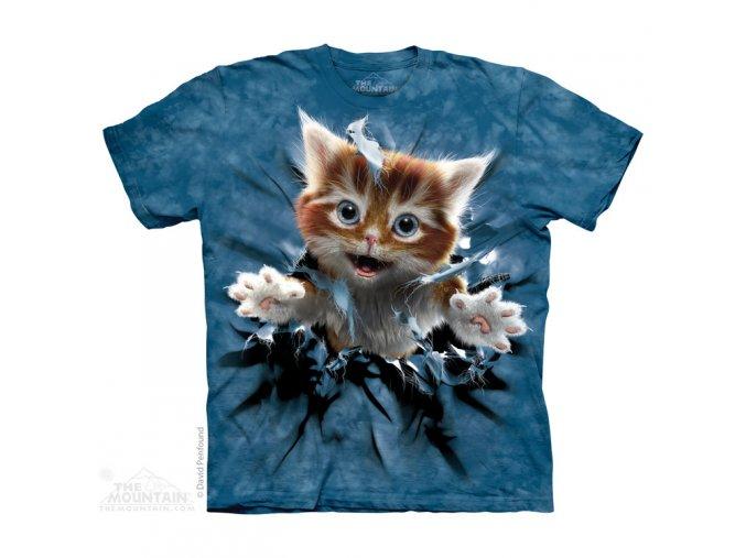 dětské tričko-kotě-trhající tričko-potisk-mountain-bavlněné