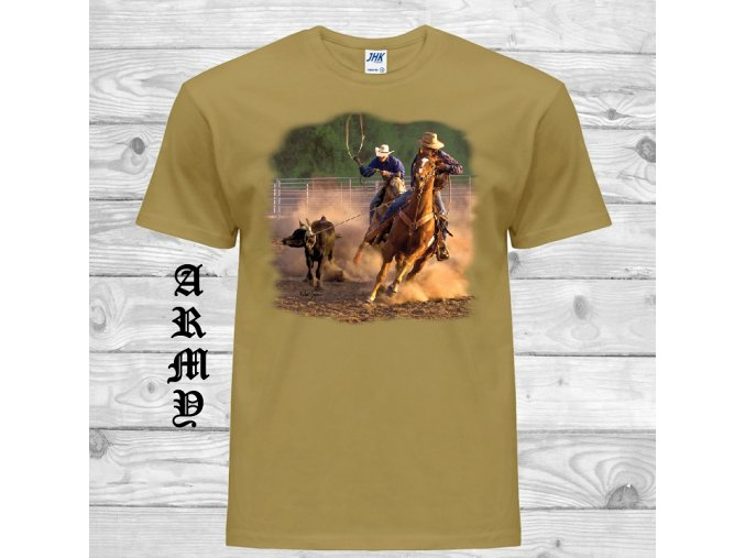 army hnede tricko rodeo