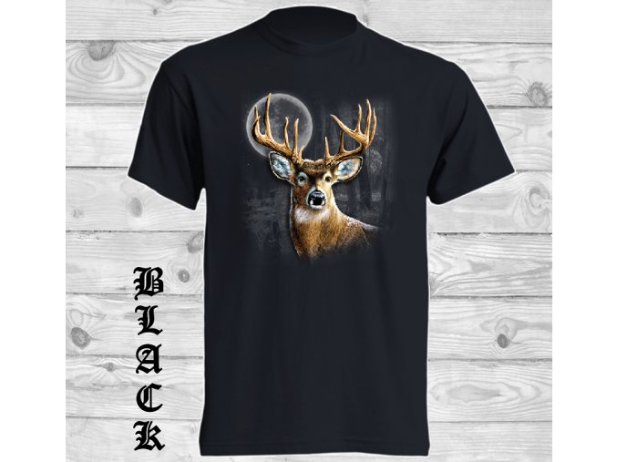 cerne tricko jelen pulnoc