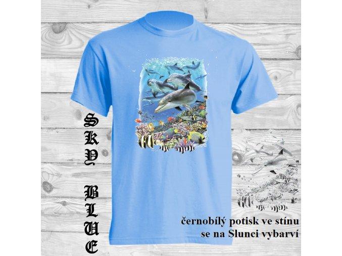 delfini modre tricko