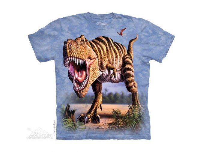 tričko, dinosaurus, tyranosaurus rex, potisk, mountain, dětské