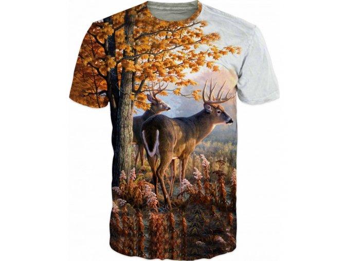 tricka jeleni na kraji lesa
