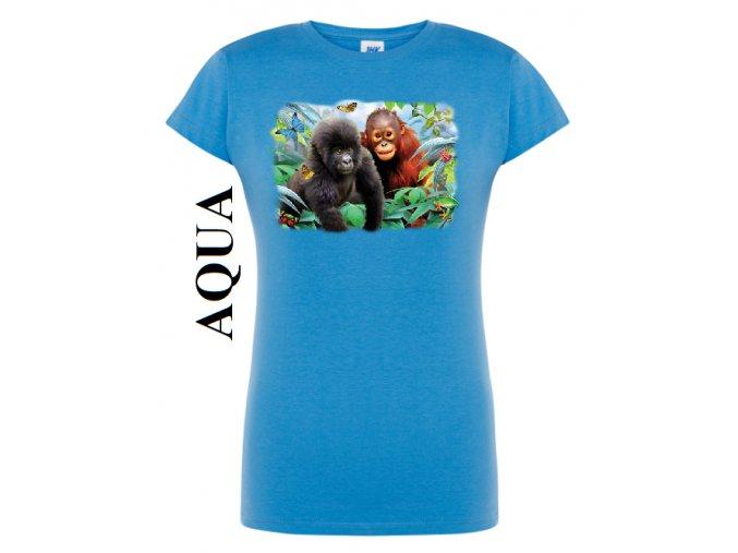 damske aqua modre tricko opice