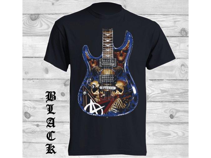 Levné tričko Hororová kytara