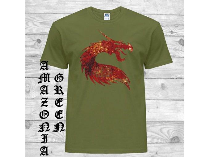 amazonsky zelene tricko drak targaryen