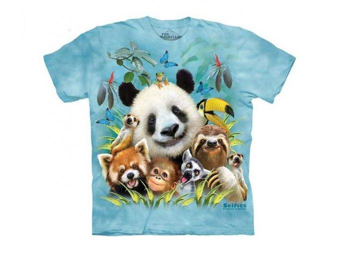 dětské tričko-vtipné-selfie zvířátek ZOO-potisk-mountain