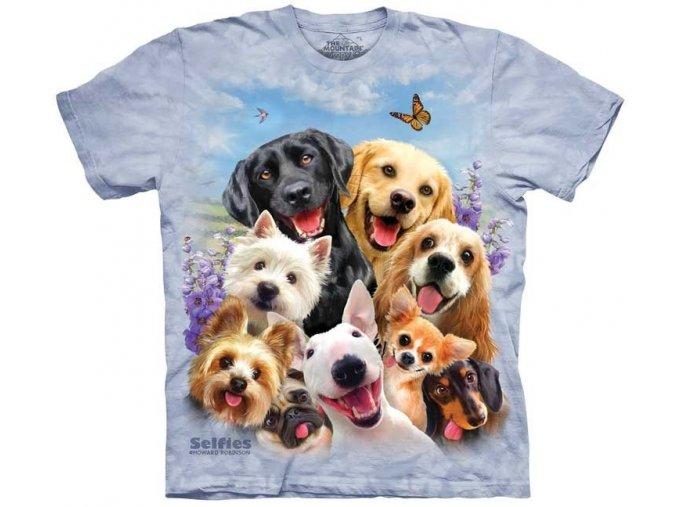 tričko, vtipné, selfie pejsků, potisk, mountain, dětské