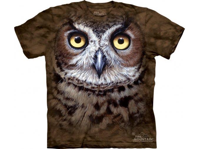 tričko-sova-výr-batikované-potisk-3d