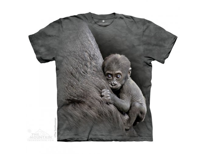 tričko, gorila, opice, potisk, mountain, dětské