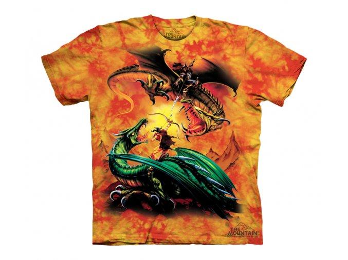 tričko, drak, souboj, potisk, mountain, dětské