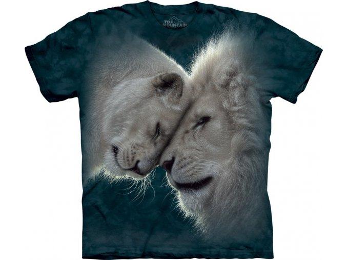 dětské tričko-bílý lev-láska-potisk-mountain