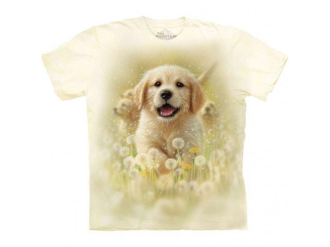 tričko, pejsek, mazlíček, batikované, potisk, mountain, dětské