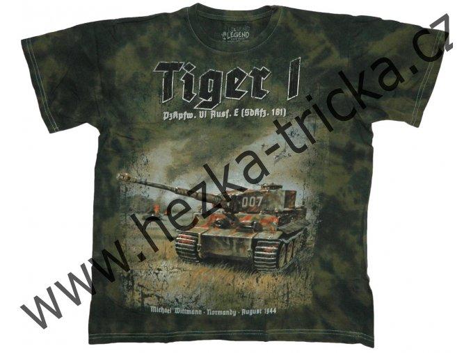 tričko, military, potisk, německý tank, Tiger I, Legend