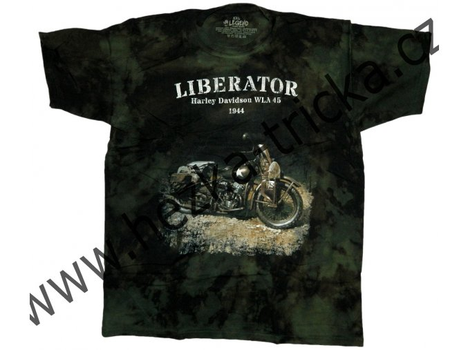 tričko, military, potisk, motorka Harley Davidson, Liberator, 194