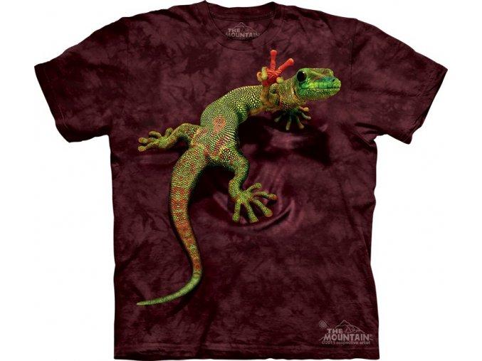 tričko, gekončík, vtipné, potisk, hipies, dětské