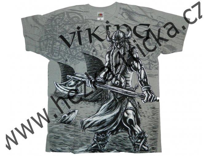 tričko, potisk, viking, drakar, sekera, Valhalla