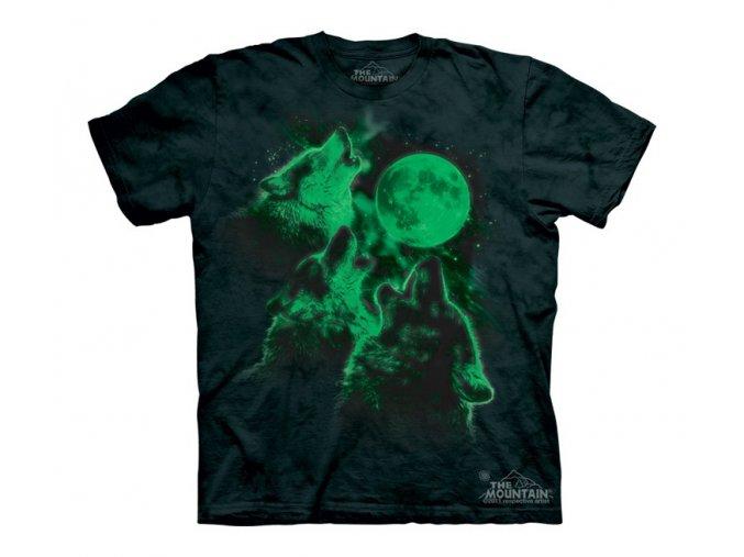 svítící tričko-dětské-vlci-mountain-potisk-bavlna
