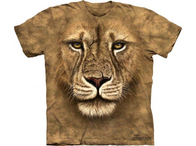tričko, lev, 3d,  potisk, mountain, dětské