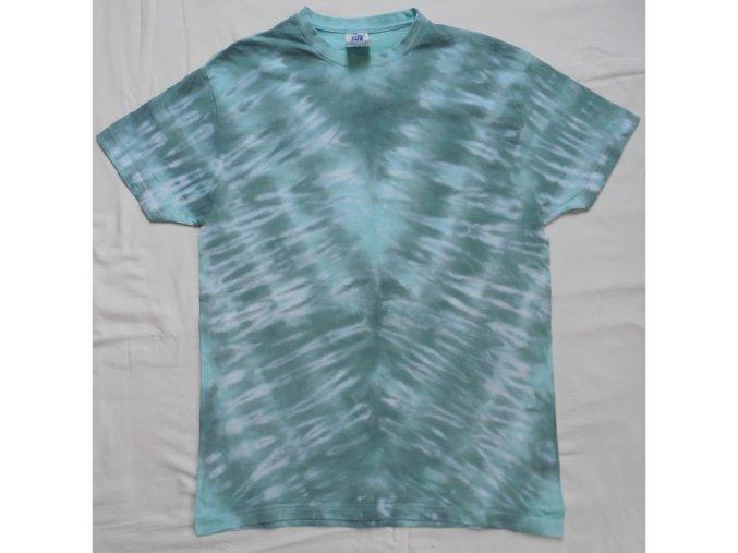 Ručně batikované bavlněné tričko Šipka vel. S