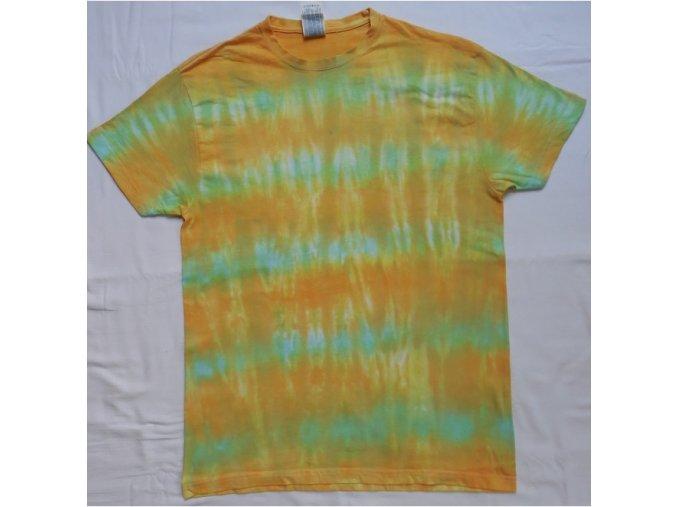 Ručně batikované bavlněné tričko Step vel. S