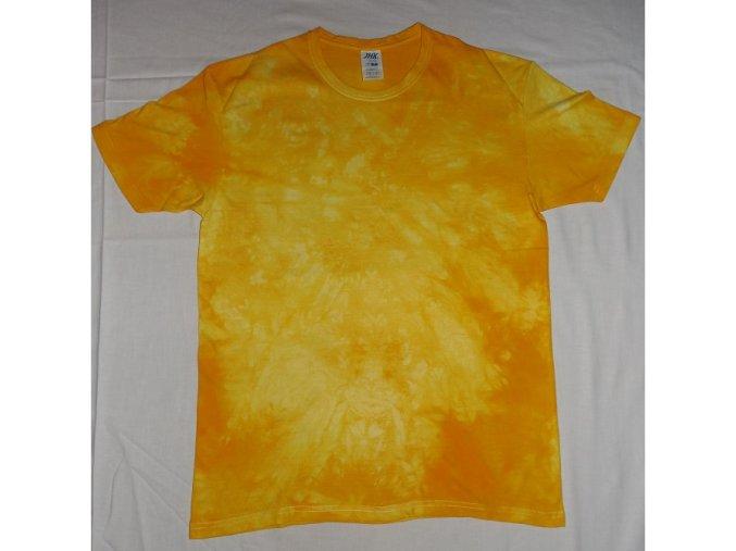Ručně batikované bavlněné tričko Slunce vel. L
