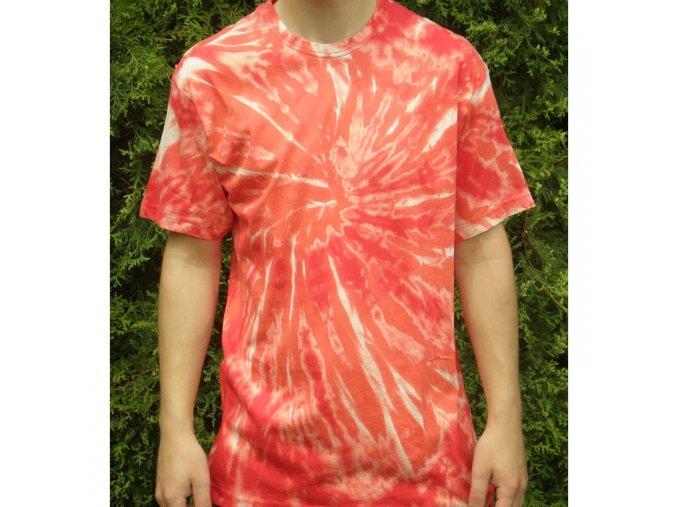 Ručně batikované bavlněné tričko Nova vel. L