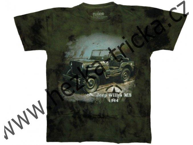 Military tričko s potiskem amerického auta Jeep Willys 1944