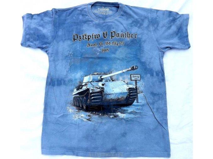 Military tričko s potiskem německého tanku Panther 1943
