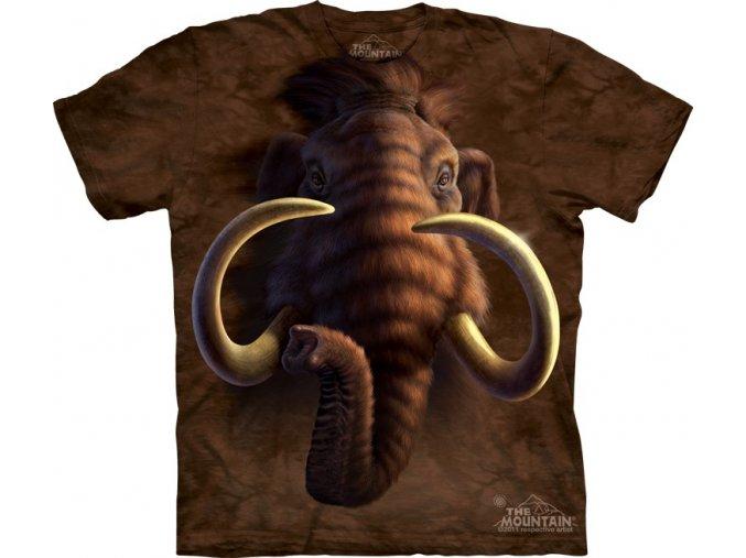 dětské tričko-mamut-batikované-potisk-mountain