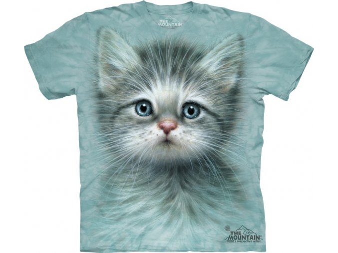 tričko, kočka, koťátko, potisk, mountain, dětské
