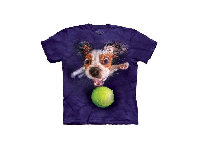dětské tričko-pejsek-tenisák-potisk-bavlněné-mountain