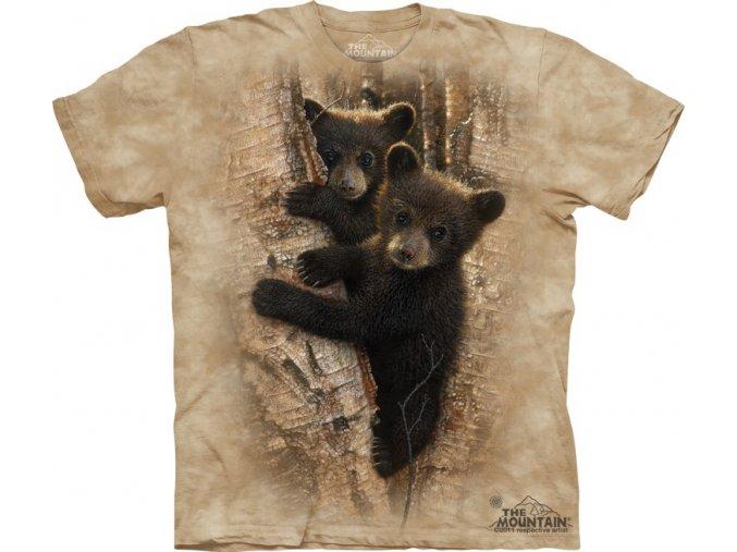 dětské tričko-medvídek-dětské-strom-mountain-potisk
