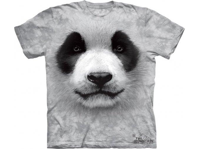 tričko, panda, 3d, potisk, dětské, mountain