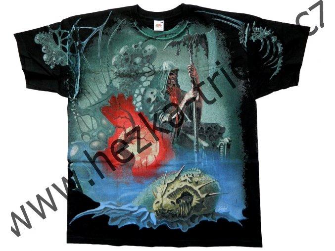 tričko, potisk, fantasy, pán močálu, hrad, netvor