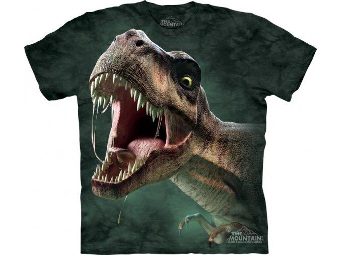 dětské tričko-řvoucí dinosaurus-tyranosaurus rex-potisk-mountain
