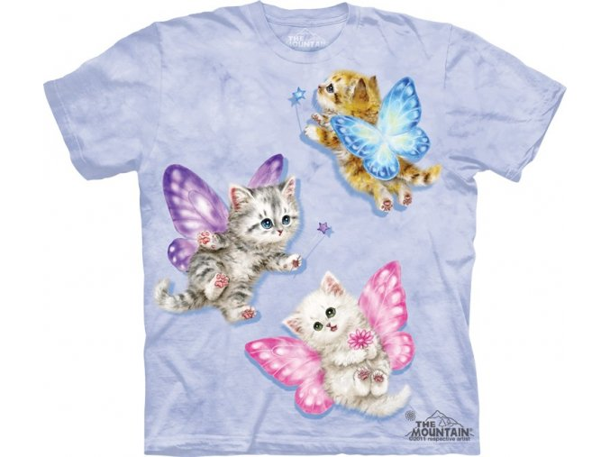 tričko, dětské, víly, kočičky, mountain, potisk